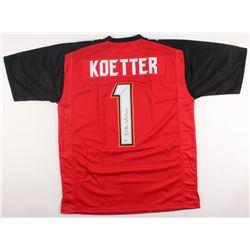 Dirk Koetter Signed Buccaneers Jersey (Beckett COA)
