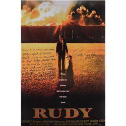 "Rudy Ruettiger Signed ""Rudy"" 24x36 Movie Poster with Extensive Inscription (Schwartz COA)"