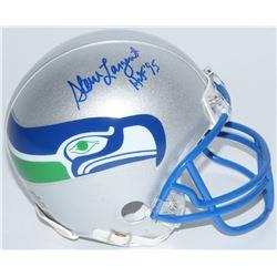 """Steve Largent Signed Seahawks Mini Helmet Inscribed """"HOF '95"""" (Schwartz COA)"""
