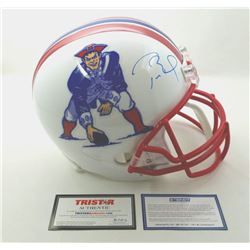 Tom Brady Signed LE Patriots Throwback Full-Size Helmet (Steiner COA  Tristar Hologram)