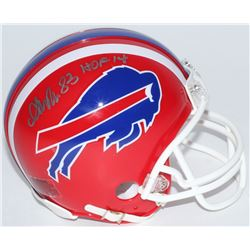 """Andre Reed Signed Bills Mini Helmet Inscribed """"HOF 14"""" (Schwartz COA)"""
