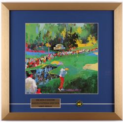 """Leroy Neiman """"The 16th at Masters"""" 18x18.5 Custom Framed Print Display with Masters Pin"""