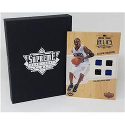 Allen Iverson 2016-17 Upper Deck Supreme Hardcourt NBA Relics Floor With (4) Jersey Swatches