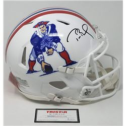 Tom Brady Signed LE Patriots Throwback Full-Size Authentic On-Field Speed Helmet (Tristar Hologram)