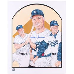 Duke Snider Signed Dodgers 16x20 Lithograph (MLB Hologram)