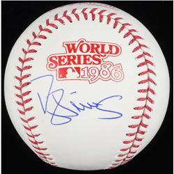 Darryl Strawberry Signed 1986 World Series Baseball (Schwartz COA)