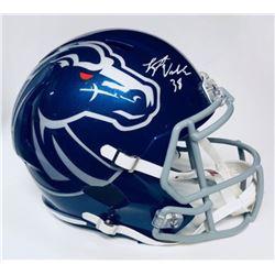 Leighton Vander Esch Signed Boise State Broncos Speed Full-Size Helmet (JSA COA)