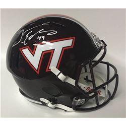 Tremaine Edmunds Signed Virginia Tech Hokies Full-Size Speed Helmet (JSA COA)