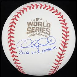 "Chris Coghlan Signed 2016 World Series Baseball Inscribed ""2016 W.S. Champs"" (Schwartz COA)"