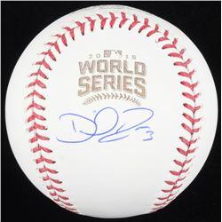 David Ross Signed 2016 World Series Logo Baseball (Schwartz COA)
