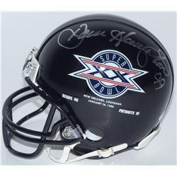 """Dan Hampton Signed Bears Super Bowl XX Logo Mini Helmet Inscribed """"MVP XX"""" (Schwartz COA)"""