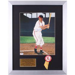 Stan Musial Signed Cardinals 16x20 Custom Framed Print Display (PSA COA)