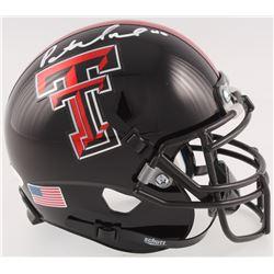 Patrick Mahomes Signed Texas Tech Red Raiders Mini Helmet (JSA COA)