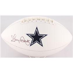 Tony Dorsett Signed Cowboys Logo Football (JSA COA)
