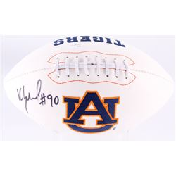 Kevin Greene Signed Auburn Tigers Logo Football (JSA COA)