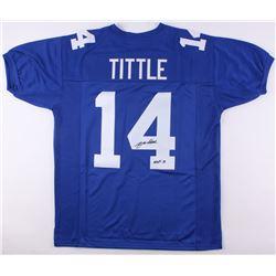 """Y. A. Tittle Signed Giants Jersey Inscribed """"HOF 71"""" (JSA COA)"""