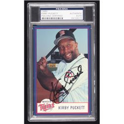Kirby Puckett Signed Photo Card (PSA Encapsulated)