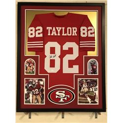 John Taylor Signed 49ers 34x42 Custom Framed Jersey (JSA COA)