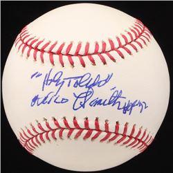 "Milo Hamilton Signed OML Baseball Inscribed ""Holy Toledo"" and ""HOF 92"" (JSA COA)"