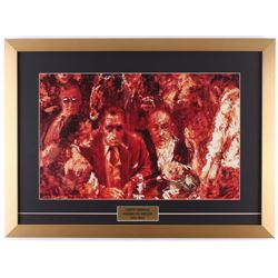 "LeRoy Neiman ""Big Time Gambling"" 18.5x25 Custom Framed Print Display"