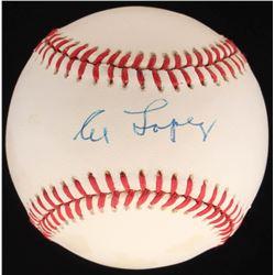 Al Lopez Signed OAL Baseball (JSA COA)