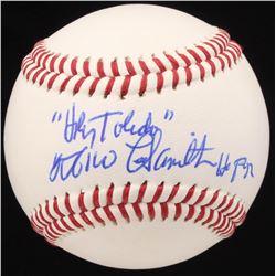"Milo Hamilton Signed Baseball Inscribed ""Holy Toledo"" and ""HOF 92"" (JSA COA)"