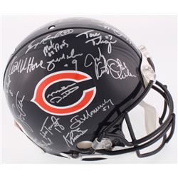 1985 Bears Full-Size Authentic On-Field Helmet with Super Bowl XX Logo Team-Signed by (31) with Mike
