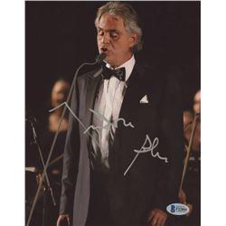 Andrea Bocelli Signed 8x10 Photo (Beckett COA)