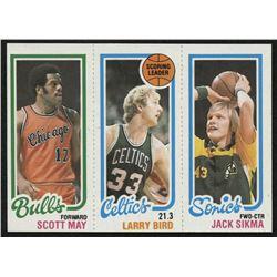 1980-81 Topps #98 47 Scott May / 30 Larry Bird TL / 232 Jack Sikma