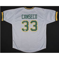 Jose Canseco Signed Athletics Juiced Jersey (JSA COA)
