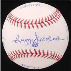 Reggie Jackson Signed OML Baseball with Multiple Inscriptions (JSA COA)
