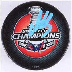 Alexander Ovechkin Signed 2018 Stanley Cup Champions Logo Hockey Puck (Beckett COA)