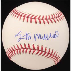 Stan Musial Signed OML Baseball (PSA Hologram)