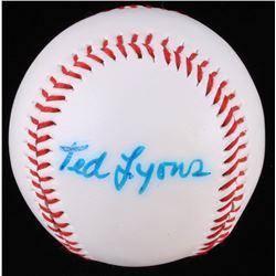 Ted Lyons Signed Baseball (JSA LOA)
