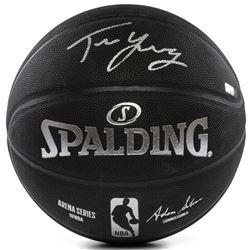 Trae Young Signed LE NBA Arena Series Black Basketball  (Panini COA)