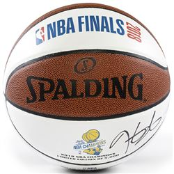 "Kevin Durant Signed Warriors LE 2018 NBA ""Back to Back"" Finals Champions White Panel Basketball (Pan"