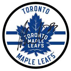 William Nylander Signed Maple Leafs Logo Hockey Puck (UDA COA)