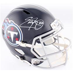 Eddie George Signed Titans Full-Size Speed Helmet (Beckett COA)