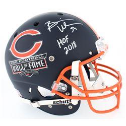 Brian Urlacher Signed Bears Hall of Fame Commemorative Custom Matte Navy Blue Full-Size Helmet Inscr