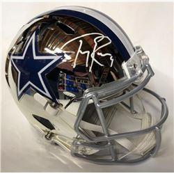 Tony Romo Signed Cowboys Full-Size Chrome Helmet (JSA COA)