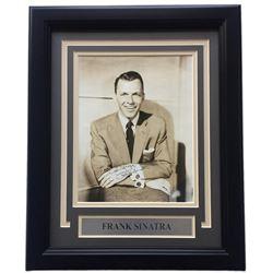 Frank Sinatra Signed 11x14 Custom Framed Photo Display (JSA LOA)