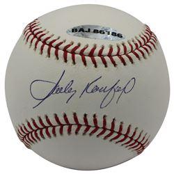 Sandy Koufax Signed OML Baseball (UDA COA  MLB Hologram)