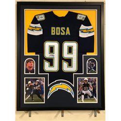 Joey Bosa Signed Chargers 34x42 Custom Framed Jersey (JSA COA)