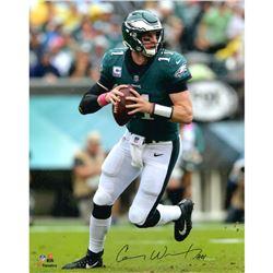 "Carson Wentz Signed Eagles 16x20 Photo Inscribed ""AO1"" (Fanatics Hologram)"