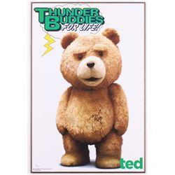 "Mark Wahlberg Signed ""Ted"" 13x19 Custom Print on Wood Base (JSA COA)"