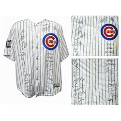 2016 Cubs World Series Majestic Jersey Team-Signed by (26) with Kris Bryant, Anthony Rizzo, Ben Zobr