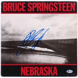 "Bruce Springsteen Signed ""Nebraska"" Vinyl Record Album Cover (Beckett LOA)"