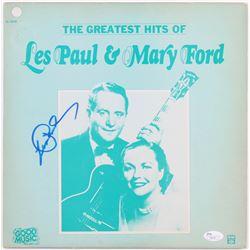 "Les Paul Signed ""The Greatest Hits of Les Paul  Mary Ford"" Vinyl Record Album (JSA COA)"
