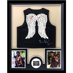 """Norman Reedus Signed """"The Walking Dead"""" 34x42 Custom Framed Vest (Radtke COA)"""