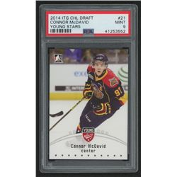 2015 ITG CHL Draft #21 Connor McDavid / Young Stars (PSA 9)